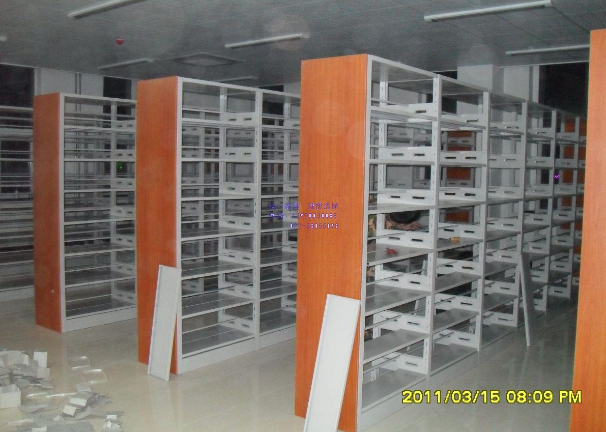 钢木结合图书书架